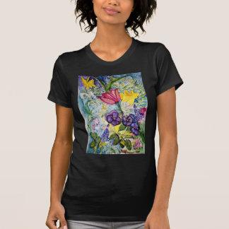 Pintura de la acuarela del jardín de la primavera camiseta