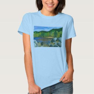Pintura de la acuarela del lago mountain de los camisas