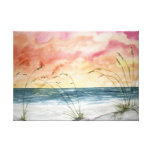 pintura de la acuarela del paisaje marino de la pl impresion en lona