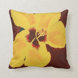 Pintura de la almohada hawaiana amarilla del