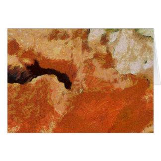 Pintura de la amapola tarjeta pequeña