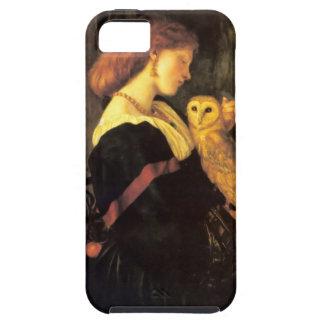 Pintura de la antigüedad del búho de chillido de l iPhone 5 cárcasas