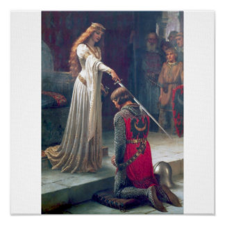 pintura de la antigüedad del castillo de la espada impresiones