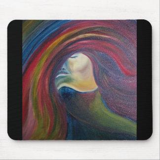 "Pintura de la ""asfixia"" - de una mujer en un Mouse Tapetes De Ratón"