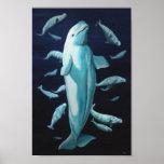 Pintura de la ballena de Marinelife de la impresió Póster