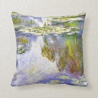 Pintura de la bella arte de Claude Monet de los Cojín