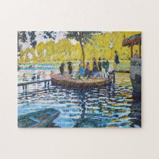 Pintura de la bella arte de Grenouillere Claude Mo Puzzles Con Fotos