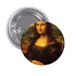 Pintura de la bella arte de Leonardo da Vinci Mona Pin Redondo 2,5 Cm