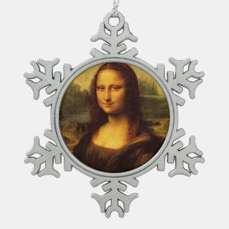 Pintura de la bella arte de Leonardo da Vinci Mona Adorno De Peltre En Forma De Copo De Nieve