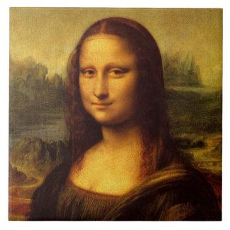 Pintura de la bella arte de Leonardo da Vinci Mona Azulejo Cuadrado Grande