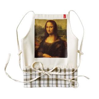 Pintura de la bella arte de Leonardo da Vinci Mona Delantal Zazzle HEART