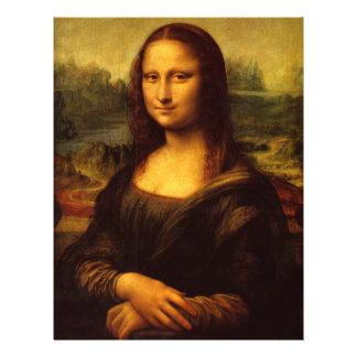 """Pintura de la bella arte de Leonardo da Vinci Mona Folleto 8.5"""" X 11"""""""