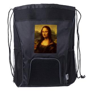 Pintura de la bella arte de Leonardo da Vinci Mona Mochila De Cordón