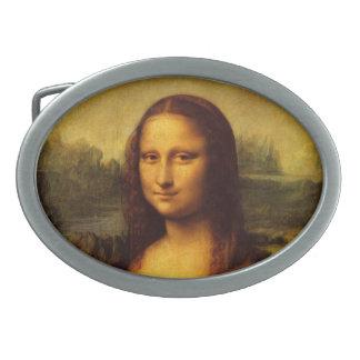 Pintura de la bella arte de Leonardo da Vinci Mona Hebillas De Cinturón Ovales