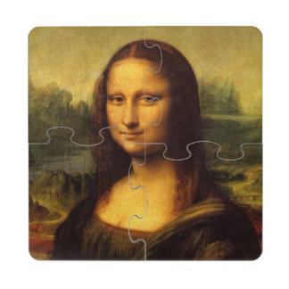 Pintura de la bella arte de Leonardo da Vinci Mona Posavasos De Puzzle
