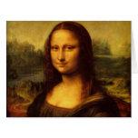 Pintura de la bella arte de Leonardo da Vinci Mona Tarjeta De Felicitación Grande