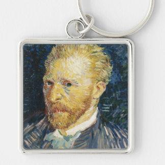 Pintura de la bella arte de Vincent van Gogh del Llavero Cuadrado Plateado
