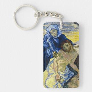 Pintura de la bella arte de Vincent van Gogh del Llavero Rectangular Acrílico A Doble Cara