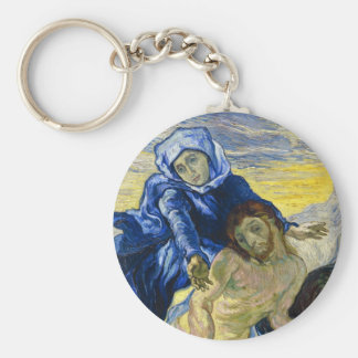 Pintura de la bella arte de Vincent van Gogh del Llavero Redondo Tipo Pin