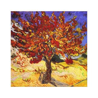 Pintura de la bella arte del árbol de mora de