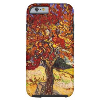 Pintura de la bella arte del árbol de mora de funda de iPhone 6 tough