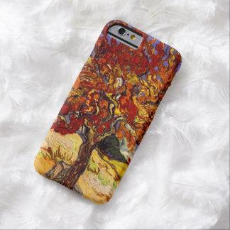 Pintura de la bella arte del árbol de mora de funda de iPhone 6 barely there