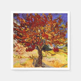 Pintura de la bella arte del árbol de mora de servilletas desechables