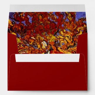 Pintura de la bella arte del árbol de mora de sobre