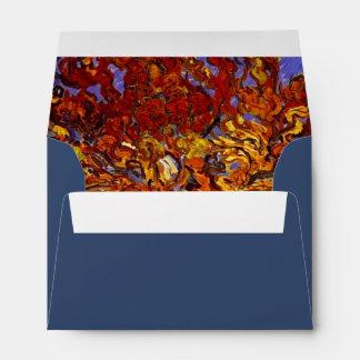 Pintura de la bella arte del árbol de mora de sobres