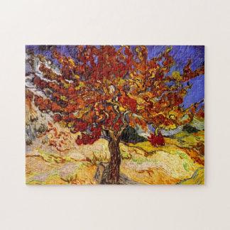 Pintura de la bella arte del árbol de mora de Vinc Rompecabezas Con Fotos