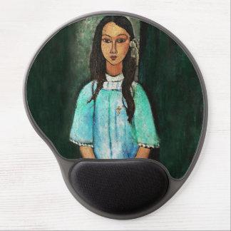 Pintura de la bella arte del vintage de Modigliani Alfombrilla Gel