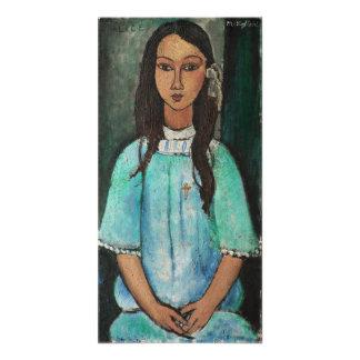 Pintura de la bella arte del vintage de Modigliani Impresión Fotográfica