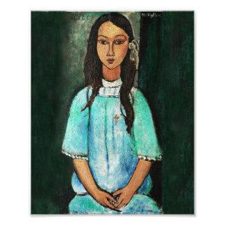 Pintura de la bella arte del vintage de Modigliani Fotografía