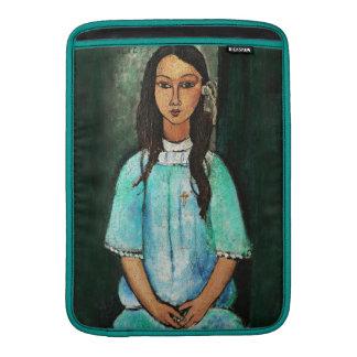 Pintura de la bella arte del vintage de Modigliani Funda Para Macbook Air