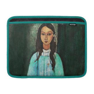 Pintura de la bella arte del vintage de Modigliani Fundas Macbook Air