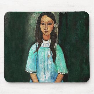 Pintura de la bella arte del vintage de Modigliani Alfombrilla De Ratón