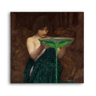 Pintura de la bella arte del Waterhouse de Circe Sobre