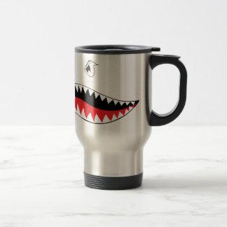 Pintura de la boca del tiburón taza térmica