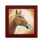 pintura de la cabeza de caballo caja de regalo