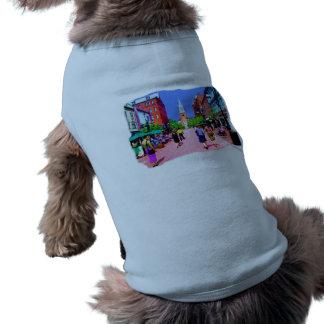 Pintura de la calle de Vermont Playera Sin Mangas Para Perro