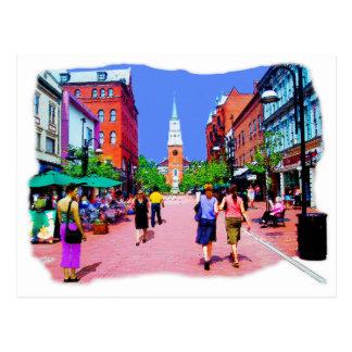 Pintura de la calle de Vermont Tarjeta Postal