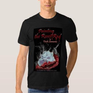 Pintura de la camiseta del rojo de los rosas playeras