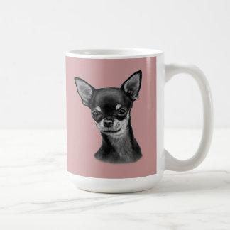 Pintura de la chihuahua taza de café