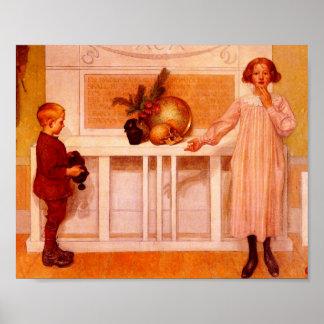 """Pintura de la ciencia de """"Enigma de la vida """" Póster"""