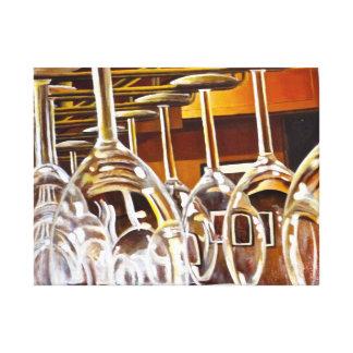 Pintura de la copa de vino impresión en lienzo