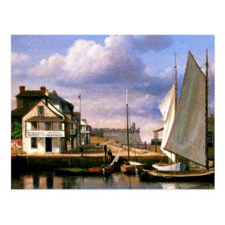 Pintura de la costa de St Augustine Postal