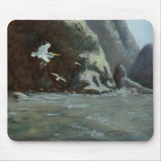 Pintura de la costa oeste en artículos de la diver alfombrillas de ratón