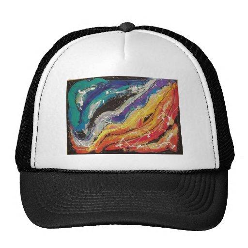 Pintura de la cuerda del arco iris gorros