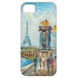 Pintura de la escena de la torre Eiffel de París iPhone 5 Case-Mate Carcasas