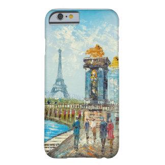 Pintura de la escena de la torre Eiffel de París Funda Barely There iPhone 6